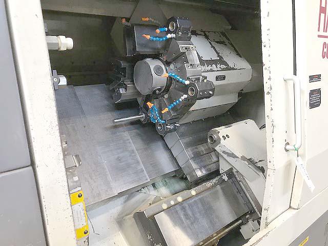 "HARDINGE CONQUEST T-51 BIG BORE, Fanuc 18T CNC Control, Live Tooling, 23"" Swing, 24"" Centers, 2.5"" Bar Capacity, SMW BarFeeder, New 1996."