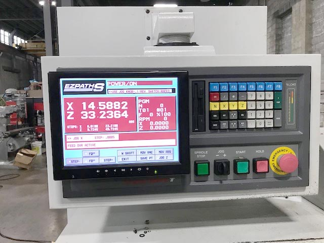 "BRIDGEPORT EZ-PATH SD, EZ Path S Control, 17"" Swing, 40"" Centers, 8"" Chuck, Aloris Tool Post, New 2000."