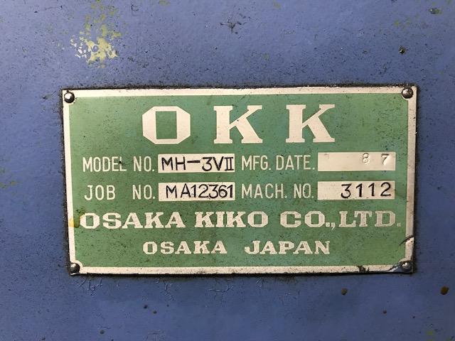 "#3 OKK, Model MH-3Vii, 14"" x 65"" Table, X=36"", Y=16"", Z=12"", 10HP, 50 Taper, 1600 rpm, New 1987."