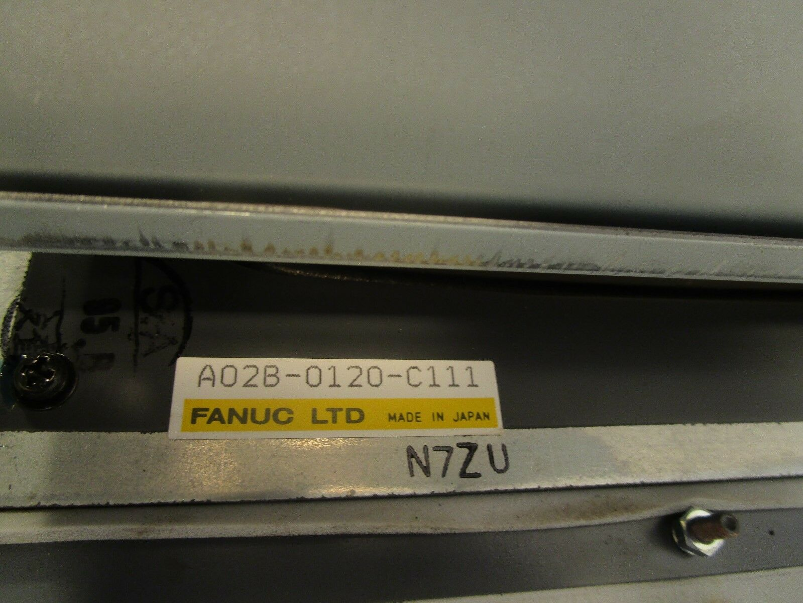 Fanuc 20F CNC Op Station with CRT A02B-0120-C111 + Push Button Panel