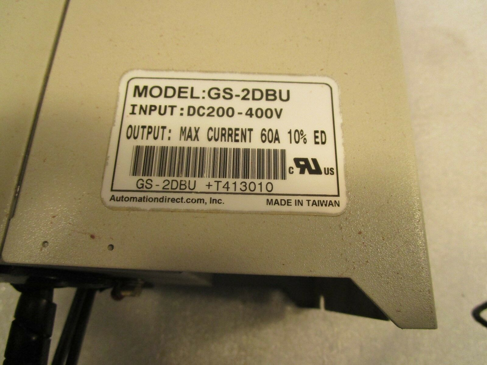Automation Direct Dura Pulse Spindle Drive Braking Unit GS-2DBU 230 Volt 22KW