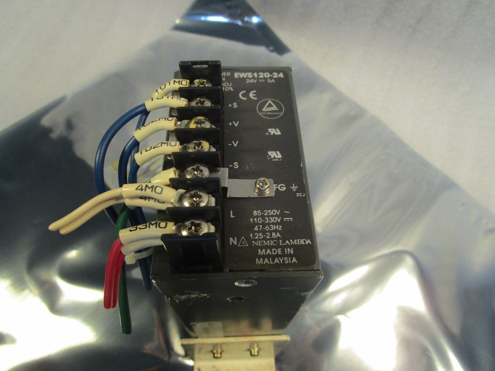 Nemic-Lambda 24 Volt Model EWS-120-24 5 Amps 100-120V or 200-240 V Input Power