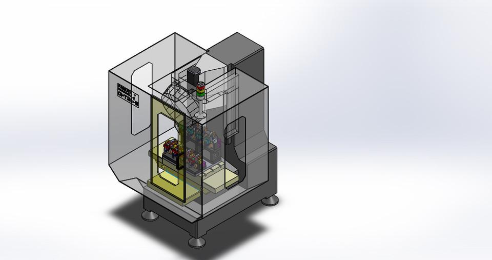 "FANUC ROBODRILL CELL, Model Alpha-T14iEL, Fanuc 18i-KNB CNC, X=27"", Y=15"", Z=13"", 14-Station Tool Changer, 10000 RPM, 5 Machines with Fanuc Tending Robot/10 Machines with 2 Fanuc Tending Robots."