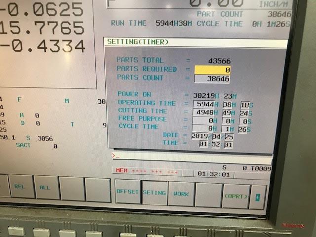 "HARDINGE BRIDGEPORT VMC1000XP3, Fanuc 18i CNC, X=40"", Y=20"", Z=20"", 10000 RPM, 30 ATC, TSC, New 2006."
