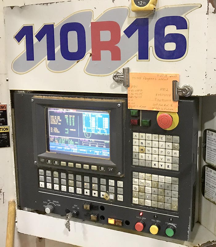 """4"""" TOSHIBA BTD-110.R16, Tosnuc 888 CNC, 55"""" x63"""" Table. X=79"""" Y=60"""", Z=19"""",W=57"""", 30"""" 5th Axis Rotary, 40HP, 3000 rpm, 60 ATC, New 2005."""