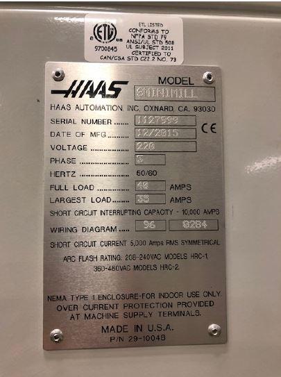 Haas Super Min Mill CNC Vertical Machining Center