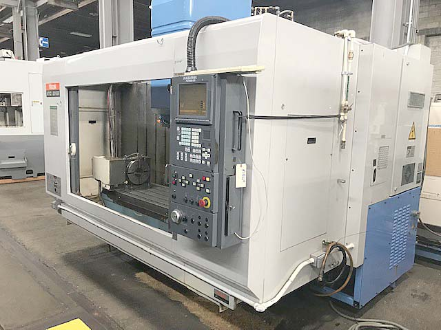 "MAZAK VTC-200B 4-AXIS, Mazatrol Fusion 640 CNC Control, 57"" x 20"" Table, X=44"", Y=20"", Z=20"", 10"" Nikken Rotary Table, Laser Tool Probe, 24 Station Tool Changer, New 2000."