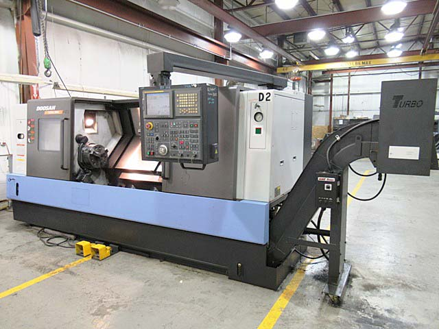 """DAEWOO DOOSAN PUMA 300LC, Fanuc 21i CNC Control, 23"""" Swing, 12"""" Chuck, Tailstock with 52"""" Centers, 12 Position Turret, 35 HP, 2800 RPM, New 2008."""
