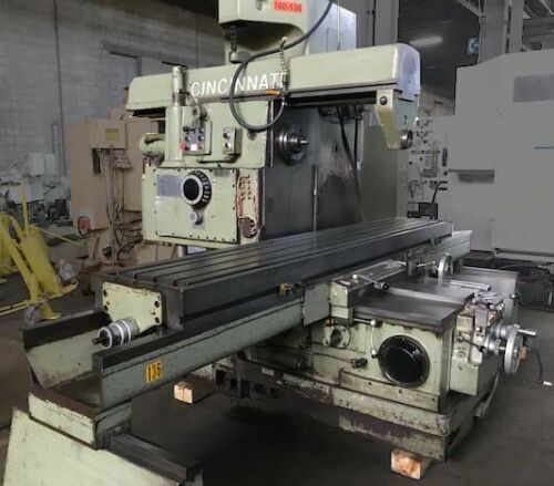 """750-20 CINCINNATI 'Verci-Power' HEAVY DUTY HORIZONTAL MILL, 20"""" x 117"""" Table, 72"""" Table Travel, 50 HP, Auto Cycle, 3 Arbor Supports, Large Tooling Package, New 1973."""