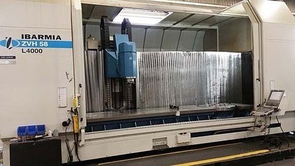 """IBARMIA ZVH58L4000 5-AXIS VERTICAL MACHINING CENTER, Heidenhain iTNC530 CNC, X=157"""", Y=39.4"""",Z=33.9"""", A=240 Degree, B=360 Degree, Cat-50, 50HP, 40 Station Tool Changer, New 2009."""
