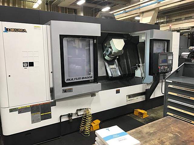 Okuma Multus B400ii Big Bore CNC Turning Center With Universal Head, Live Tooling And Y-Axis