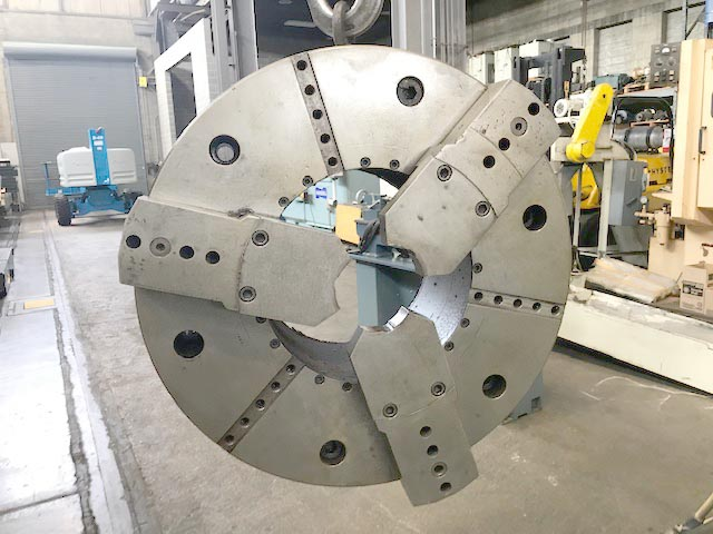 """31"""" ROTOMORS 3-JAW Hydraulic Chuck with 15"""" Bore, Model MC-ID, 15.15"""" Hole, 20mm Jaw Stroke, 55,000 LBS Clamp Force."""