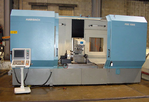 "AUERBACH FBE 1500 CNC PRODUCTION MILL, Heidenhain TNC-426 CNC, 16"" CNC Rotary Table, 64"" X 32"" Table, X= 60"", Y= 40"", Z= 24"", 50 Taper, 40 HP, New 2001."