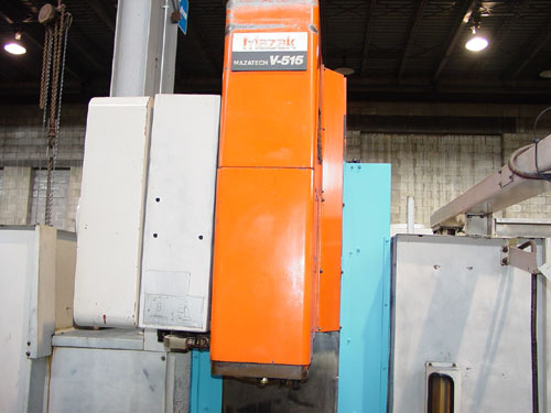 "MAZAK V-515, Mazatrol M-32 CNC, X=41.3"", Y=20"", Z=22"", Cat-50 Spindle, 30 ATC, New 1993."