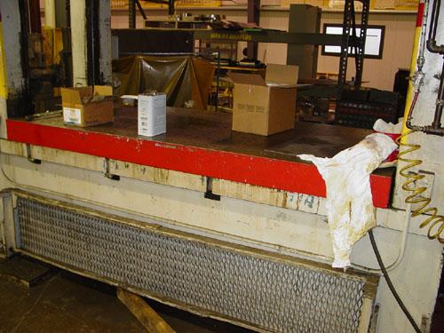 "300 Ton Heim Straight Side Press Model S300x48x102, 102"" x 48"" Bed, 12"" Stroke, 21"" Shut Height, 18 SPM, 1975."