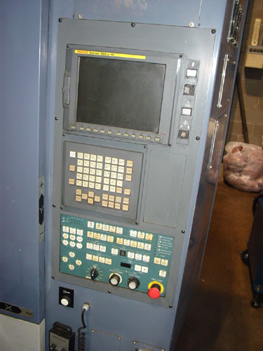 """OKK HM-50S, Fanuc 160IS CNC Control, X=24"""", Y=22"""", Z=22"""", (2) 19.7"""" Square Pallets, 1 Degree Indexing, 40 Station Tool Changer, 14,000 RPM, 2003."""