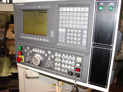 """OKUMA ES-L10, OSP U10L CNC, IGF, 10"""" Chuck, Tailstock w/ 20"""" Centers, 2.5"""" Bar Cap., Low Hours, New 2004."""