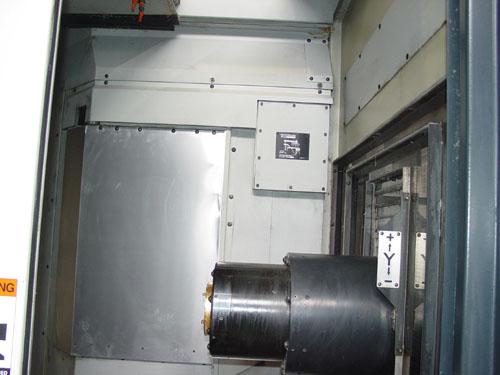 "MAKINO A-55E, Pro 3 CNC Control, X=22"", Y=22"", Z=23"", (2) 15.7"" Fully Contouring Square Pallets, 60 ATC, 14,000 RPM, Cut Plastic, 2001."
