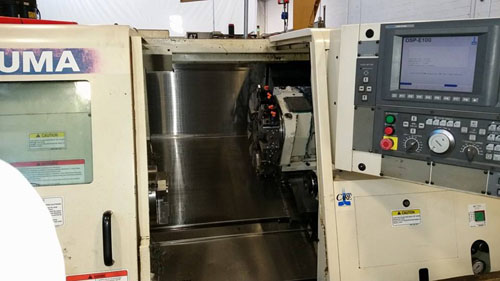 "OKUMA ES-L6, OSP U10 CNC, 17"" Swing over Bed, 11.8"" Max Turning Diameter, 11"" Max Turning Length, Programmable Tailstock, New 2008."