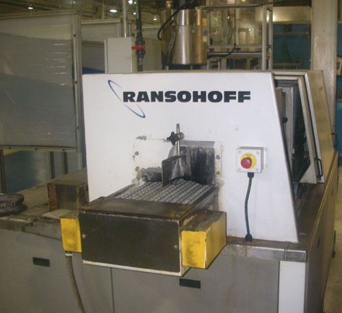 "RANSOHOFF LEANVEYOR AUTOMATIC CONTINUOUS PARTS WASHER, Wash & Heated Dry, Continuous, 12"" Wide Flat Wire Belt Conveyor, 2009."
