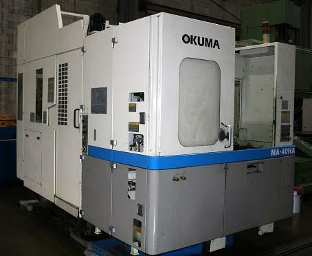"OKUMA MA-40HA, OSP-U10M CNC, (2) 15.75"" x 15.75"" Pallets, X=22"" Y=24"", Z=22"", Thru Spindle Coolant, 40 ATC, New 2000."