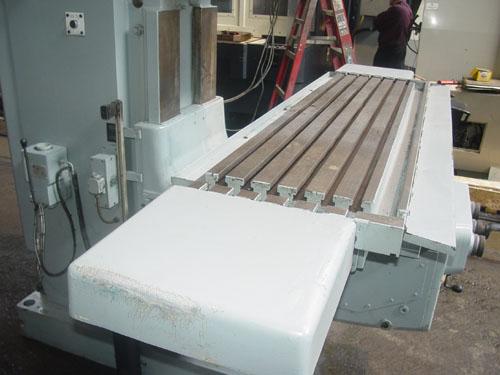 """420-16 WMW HECKERT FSS 400/S x 1600 VERTICAL MILL, Newall 3-Axis DRO, 63"""" x 15"""" Table, 45 Deg. Swiveling Head, 50 Taper, 20 HP, 1995."""
