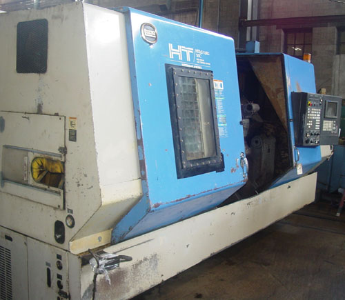 "HITACHI SEIKI HT50G HEAVY DUTY, Sigma 10L (Fanuc 18) CNC Control, 18"" Chuck, 6.62"" Bar Capacity, 40"" Swing, Tailstock w/ 51"" Centers, 50 HP, 1998."