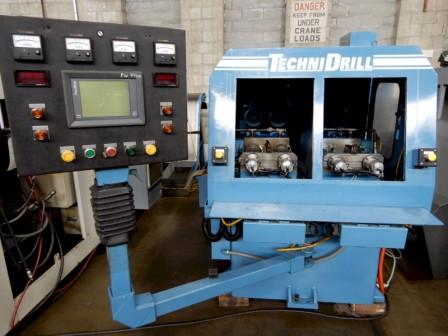 ".031- .375 x 10"" TECHNIDRILL 4 Spindle Gun Drill, Model .250-4-1A-10, Fanuc Panelmate PLC Ctrl, 10"" Travel Ballscrew Driven Variable Speed Infeed, Approx Part Size Cap 14"" H x 10"" L, High Pressure Coolant w/ Mag Sep & Convey, 2000."