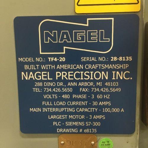 NAGEL POLISHER, TF4-20 Tape Finisher, Model TF4-20, New 2001.