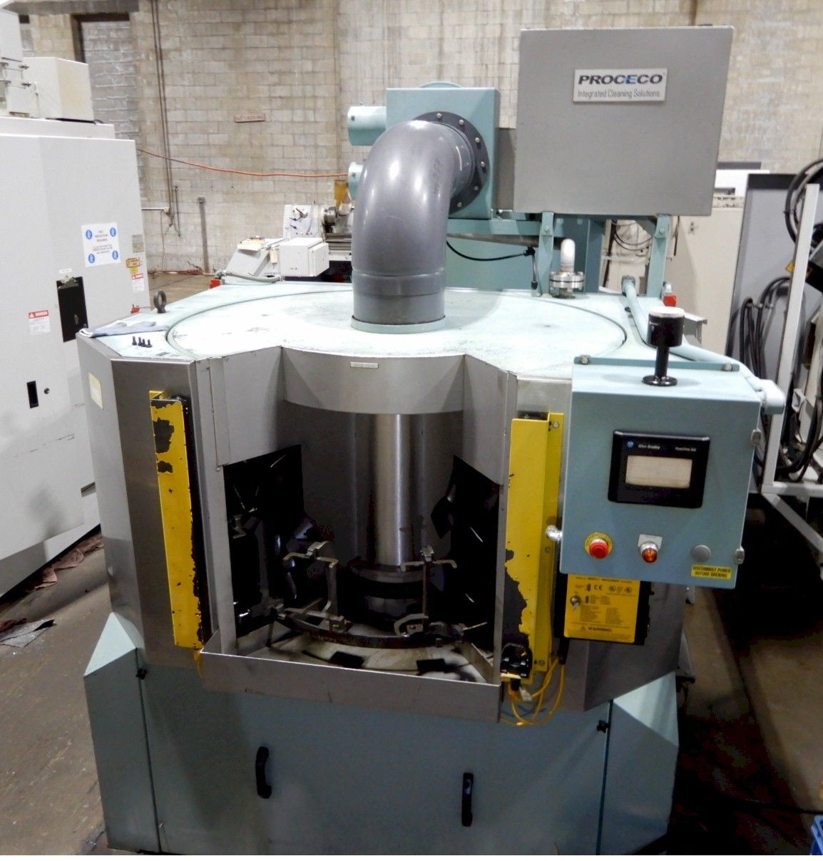 "PROCECO TYPHOON ROTARY PARTS WASHER, Model R-48-E-SS, 2 Stage, 10""x18"" Max Part Capacity."