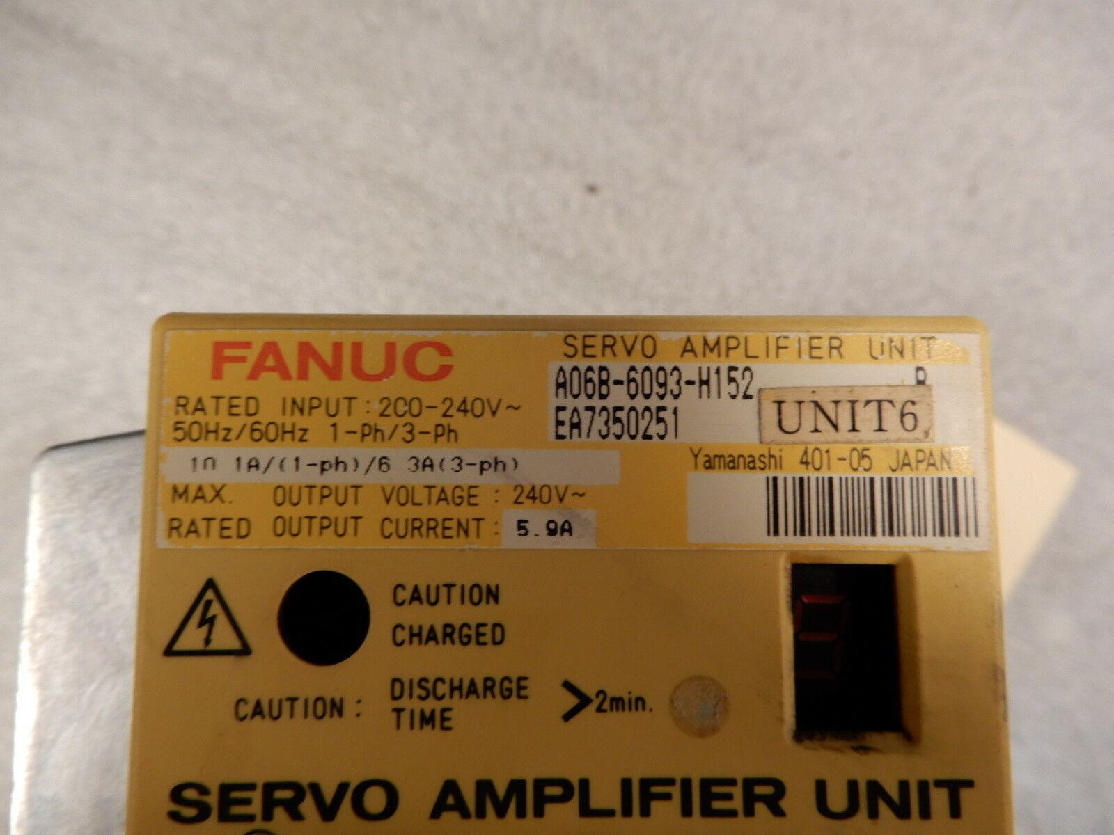 FANUC Servo Amplifier Unit A06B-6093-H152