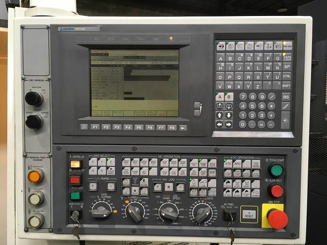 "OKUMA ESV-4020, OSP U10M CNC Control, 47"" x 20"" Table, X=40"", Y=20"", Z=20"", 8000 Max RPM, Cat 40, New 2002."