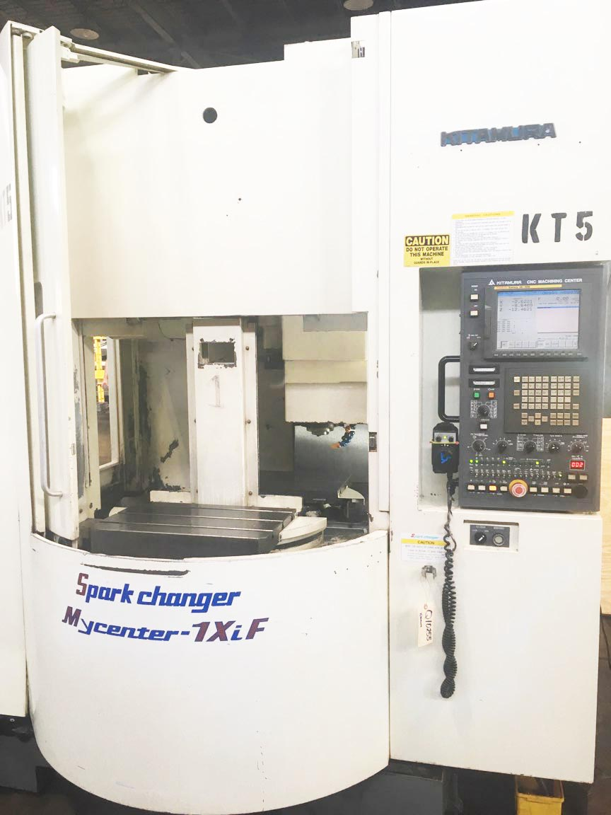 """KITAMURA MYCENTER 1XIF SPARKCHANGER, Fanuc 16i-MB CNC Control, (2) 14"""" x 22"""" pallets (built-in pallet changer), X=20"""", Y=14"""", Z=18"""", 15,000 Max RPM, 30 ATC, New 2006."""