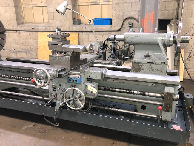 """25""""/46"""" x 109"""" BINNS & BERRY GAP BED LATHE, Model TB, 30"""" 4-Jaw Chuck, Taper Attachment, 25"""" Swing over Bed, 46"""" Swing in Gap, Follow Rest, Steady Rest, Tailstock with 109"""" Centers, New 1968."""
