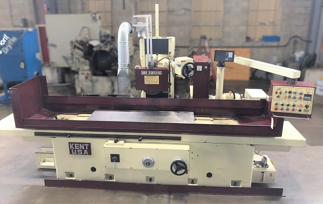 """20"""" x 60"""" KENT HORIZONTAL SPINDLE RECIPROCATING SURFACE GRINDER, Model SGS-2060AHD, 20"""" x 60"""" Electro-Magnetic Chuck, 3-Axis Auto Movements, 2-Axis DRO, 16"""" Wheel, 1750 RPM, New 1999."""