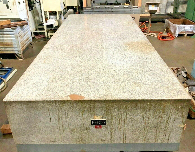 "STARRETT GRANITE SURFACE PLATE, Table Dimensions 14' x 6' x 28"", weight 33,600 lbs."