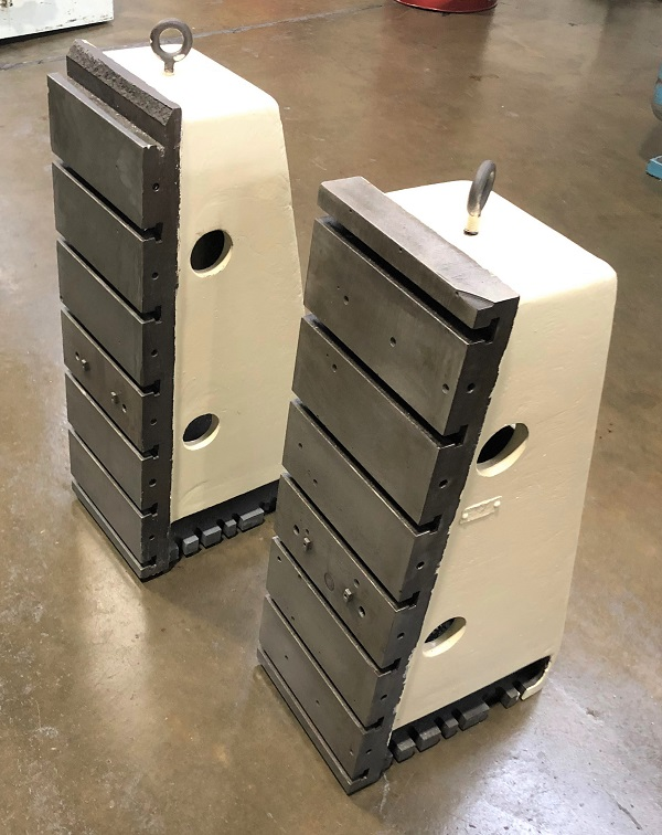 """T-SLOTTED ANGLE PLATES, SET OF 2, Overall Width is 1', Overall Height is 3', Base is 18"""""""