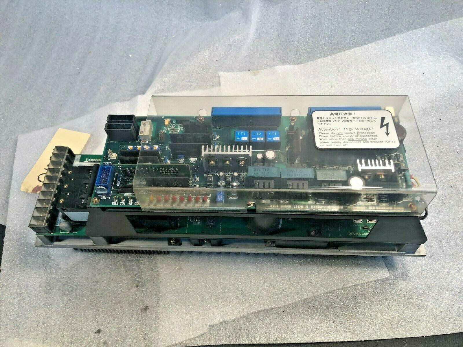 Okuma BLII-D 50 Amp Servo Drive, Came off a 1999 Okuma L1060 Turning Center, 1006-0612-80-73, Ver 3.1