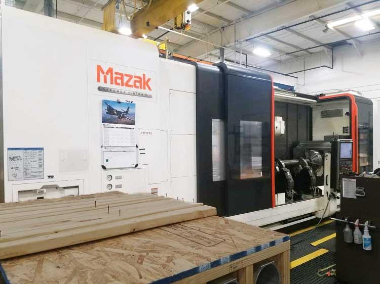 "42"" x 160"" MAZAK INTEGREX E670HS IIR/4000, Mazatrol Matrix II CNC Control, 42"" Swing, (2) 24"" Chucks, 160"" Centers, 5000 RPM Universal Milling Head, Sub spindle, C-Axis, 5.75"" thru Hole, 80 Station Tool Changer, New 2011."