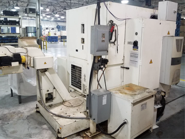 """EMCO VT-250 INVERTED SPINDLE, Siemens 828D CNC Control, 10.2"""" Swing, 10"""" Chuck, 5.9"""" Max Turning Length, Integrated Self Loading System, New 2012."""