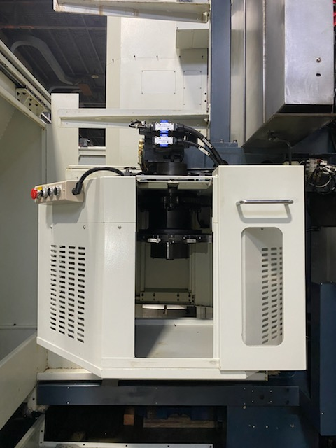 """49"""" YOU JI CNC VERTICAL BORING MILL, Model YV-1200ATC, Fanuc 0i-TD CNC Control, 49"""" Table, 63"""" Max Swing, 47"""" Under Ram, C- Axis, Live Tooling, 60HP Spindle Motor, 16 Station Tool Changer, New 2012."""