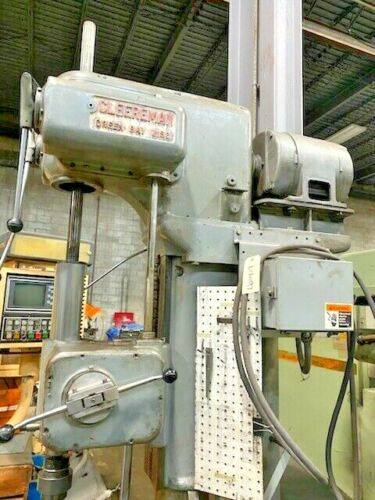 """25"""" CLEEREMAN SINGLE SPINDLE UPRIGHT LAYOUT DRILL,  23"""" Round Table, 7-1/2 HP, #4 MT, 1500 RPM, New 1955."""