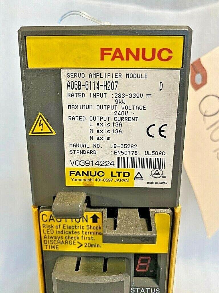 FANUC Servo Amplifier A06B-6114-H207, Used, Tested Good, 30 Day Return