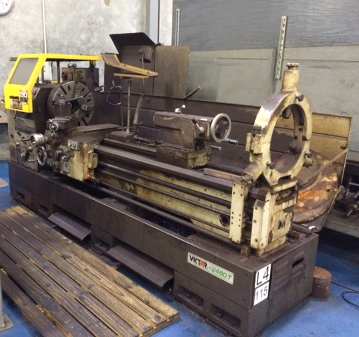 24 x 80 Victor Model 2480T Engine Lathe