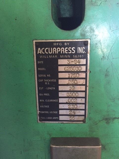 1/4 x 10 Accurshear Hydraulic Shear