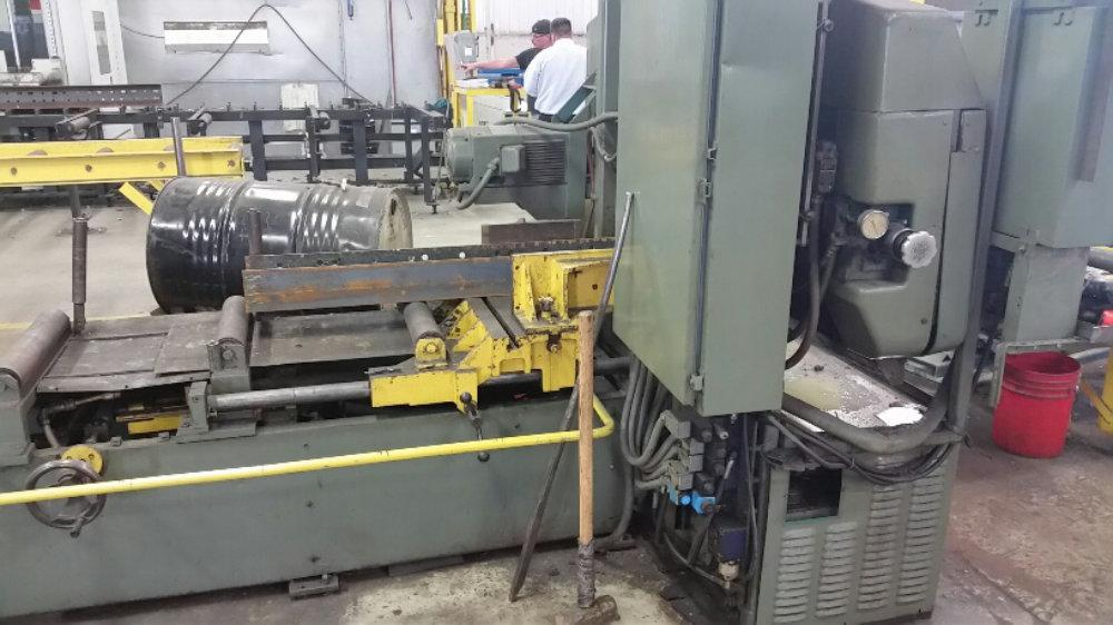 "USED WELLSAW AUTOMATIC HORIZONTAL BANDSAW, Model 14, 15"" x 18"", Stock No. 9856"