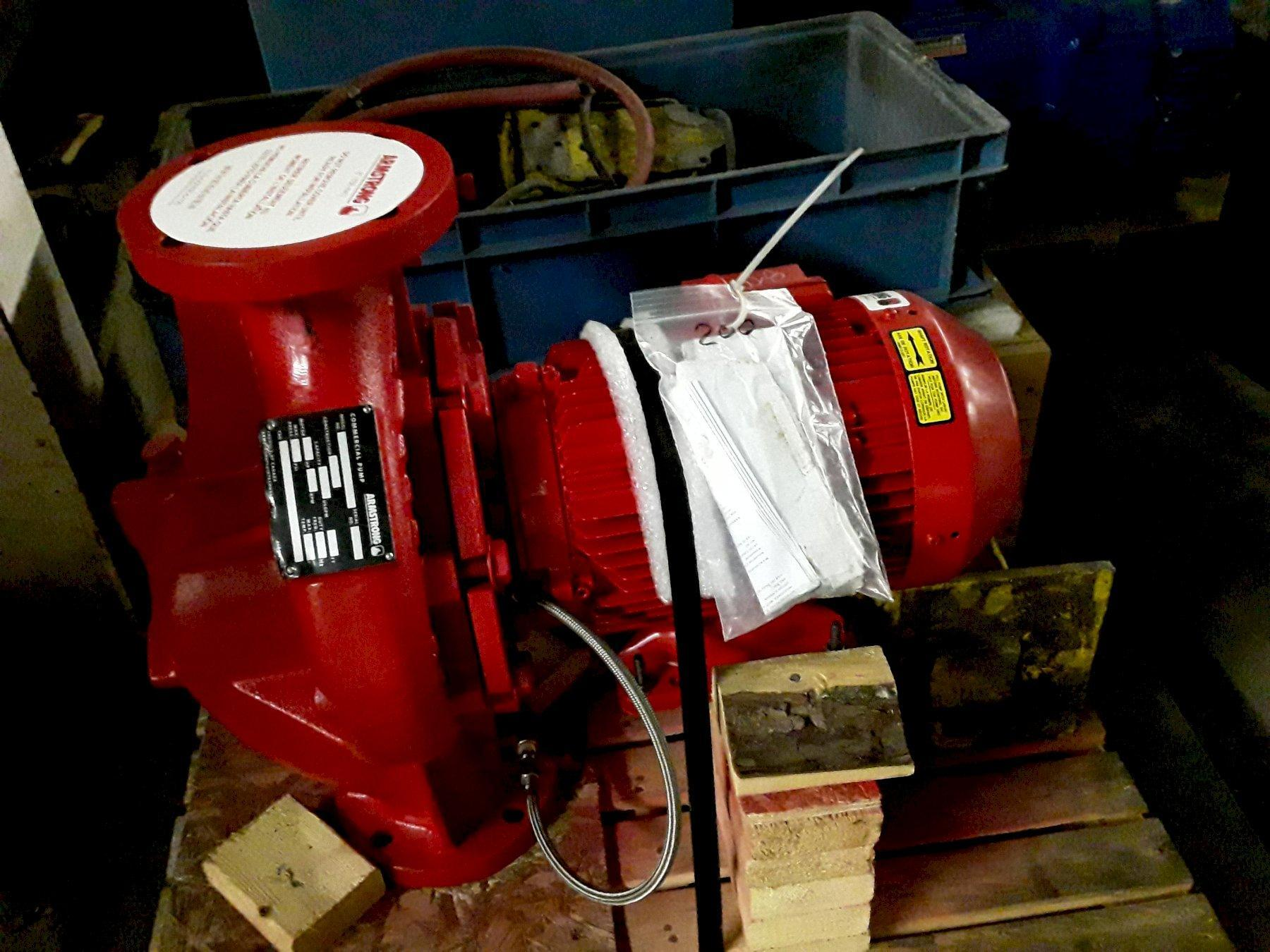 1 - NEW ARMSTRONG VERTICAL IN-LINE PUMP, MODEL #: 3X3X8 4380, S/N: 1018324033