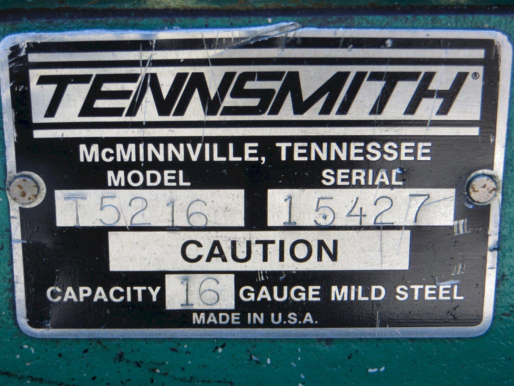 "16 Ga x 52"" Tennsmith Foot Shear Model 52"