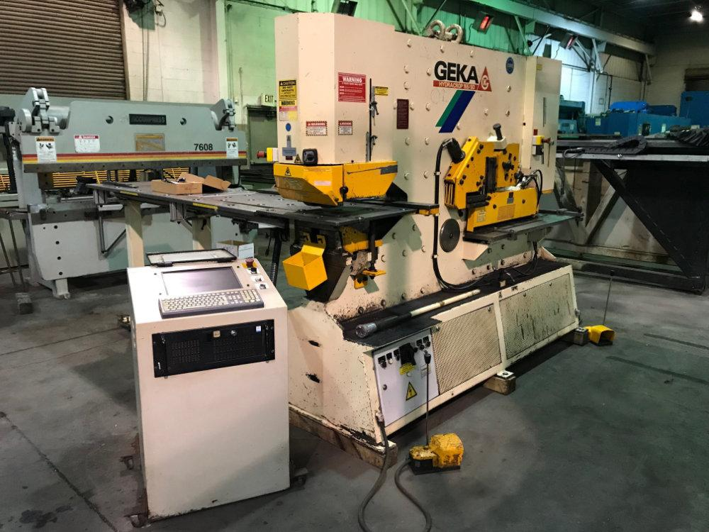 Used GEKA DUAL OPERATOR CNC HYDRAULIC IRONWORKER , Model 165SD Semi Paxy, 185 ton, Stock No. 10343