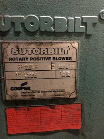 SUTORBILT, POSITIVE DISPLACEMENT BLOWER/VACUUM PUMP GAHMDLA8 100HP DRIVE
